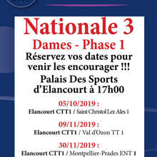 Calendrier phase 1 - N3 Dames